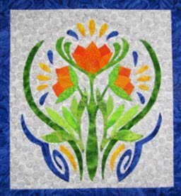 Art Nouveau Workshop Sample 2, Suzanne Marshall Quiltmaker