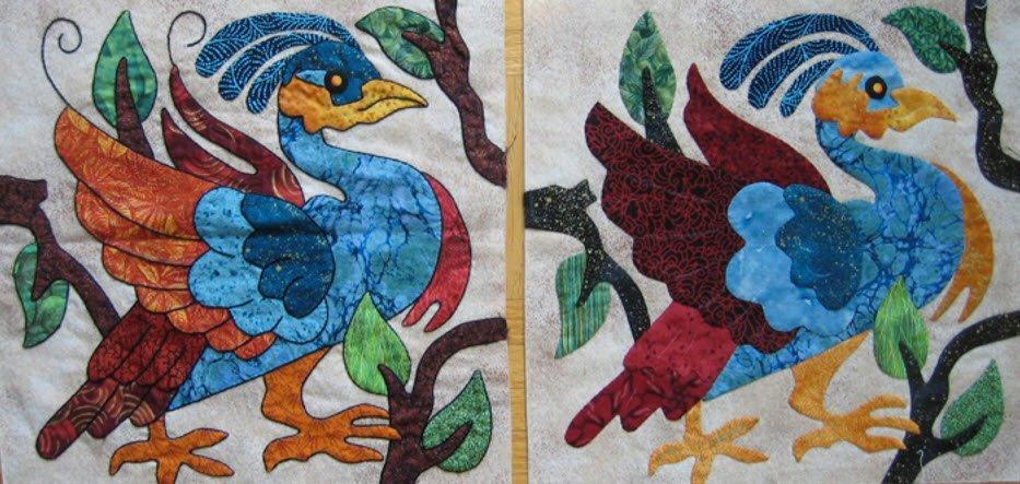 Embroidered Applique Workshop Sample, Suzanne Marshall Quilt Maker
