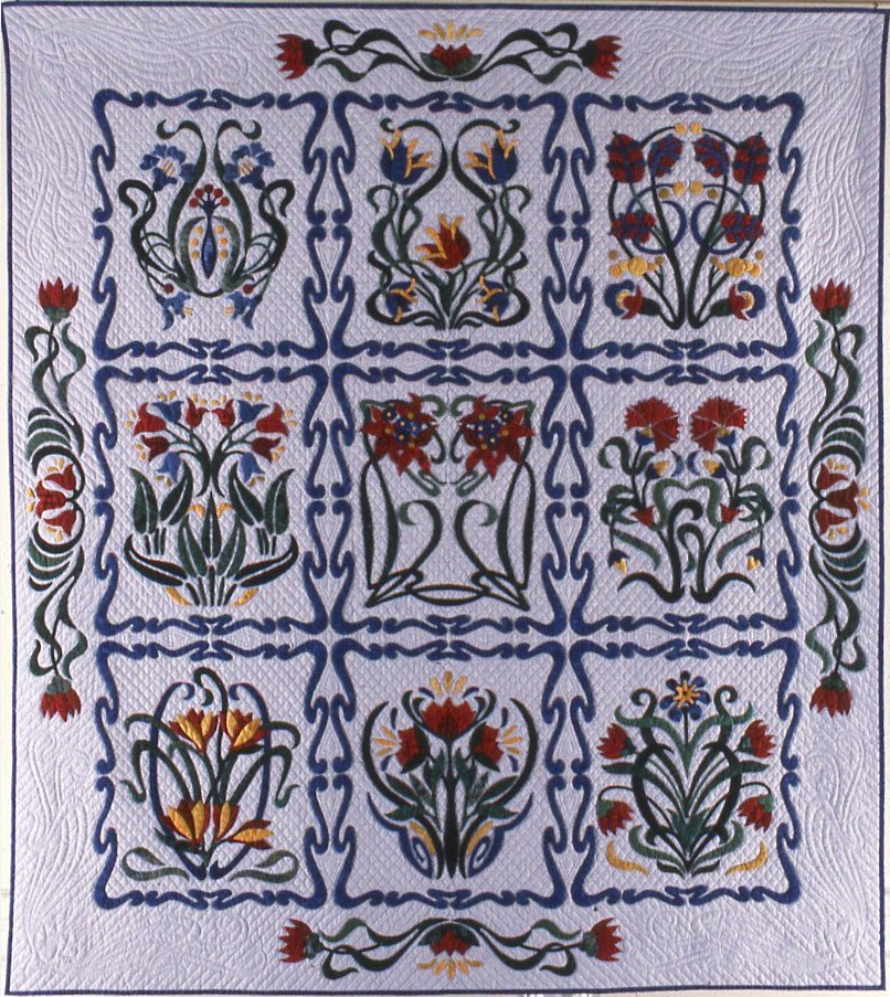 Art Nouveau (Rhapsody in Bloom), Suzanne Marshall Quilt Maker