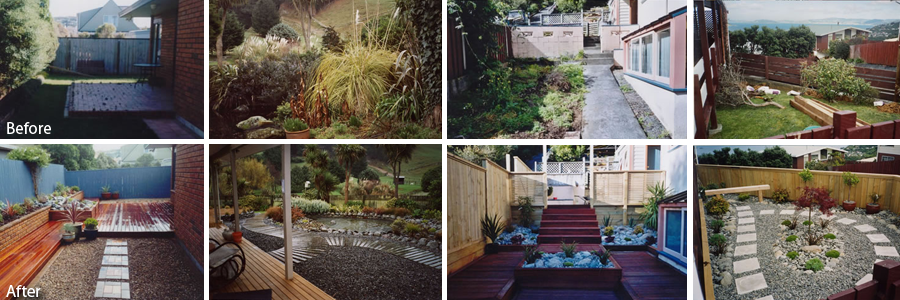 Before and after landscape services in the Greater Wellington region