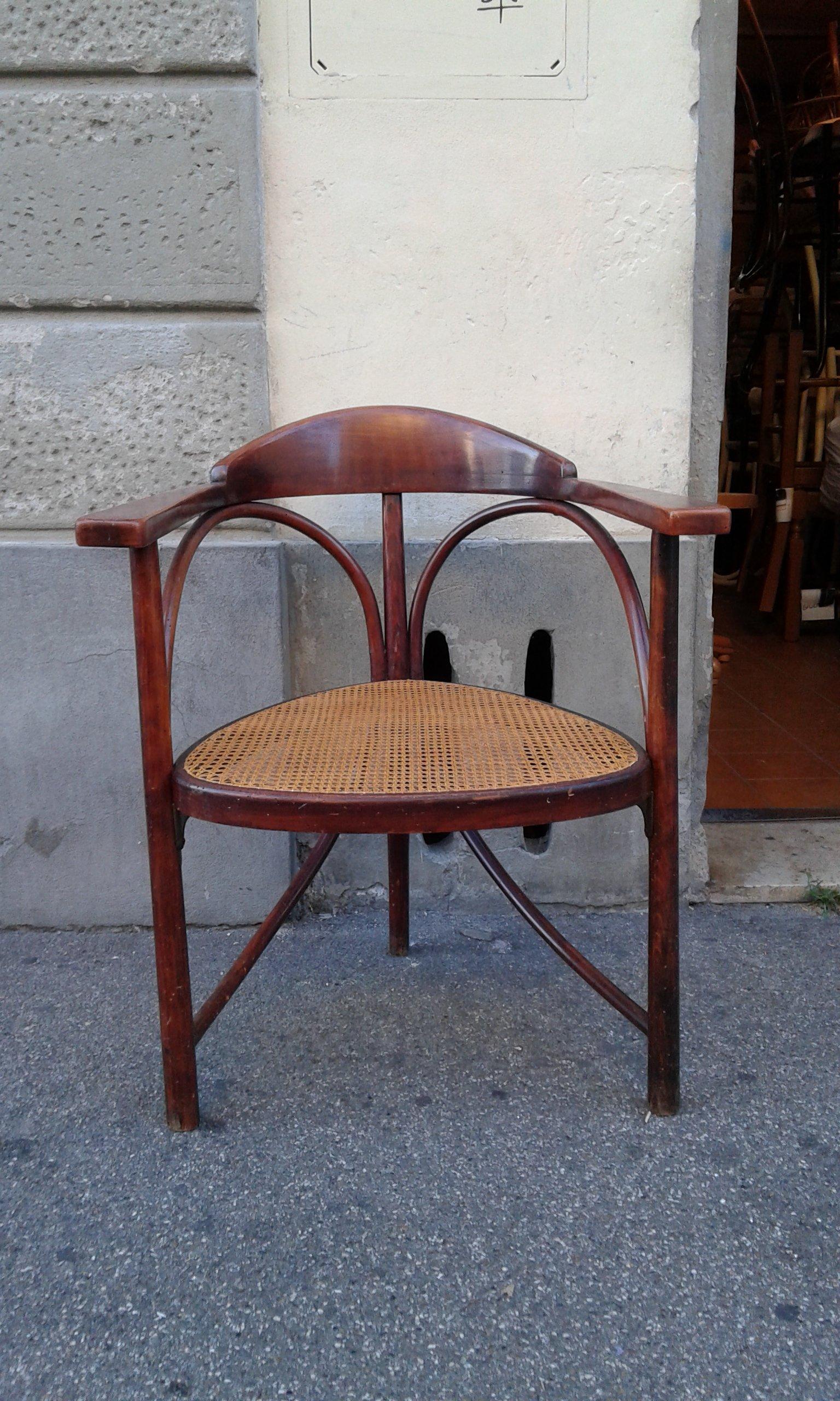 sedia in particolare schienale basso con seduta in paglia