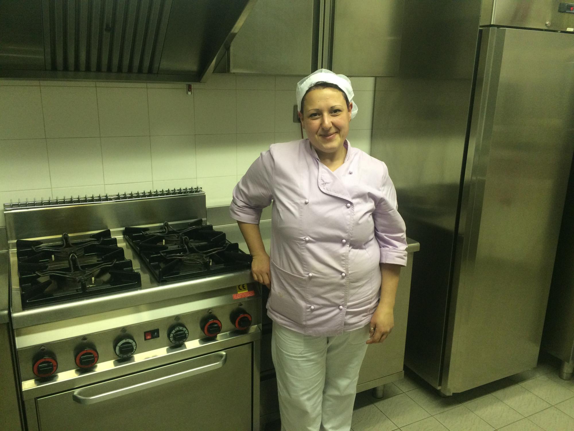 La cuoca della scuola