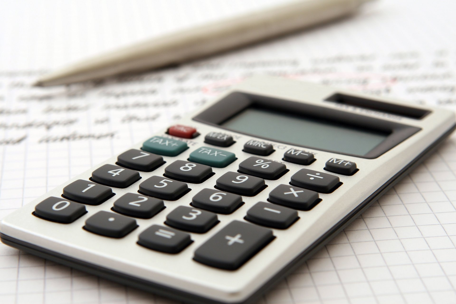 an accountant's calculator