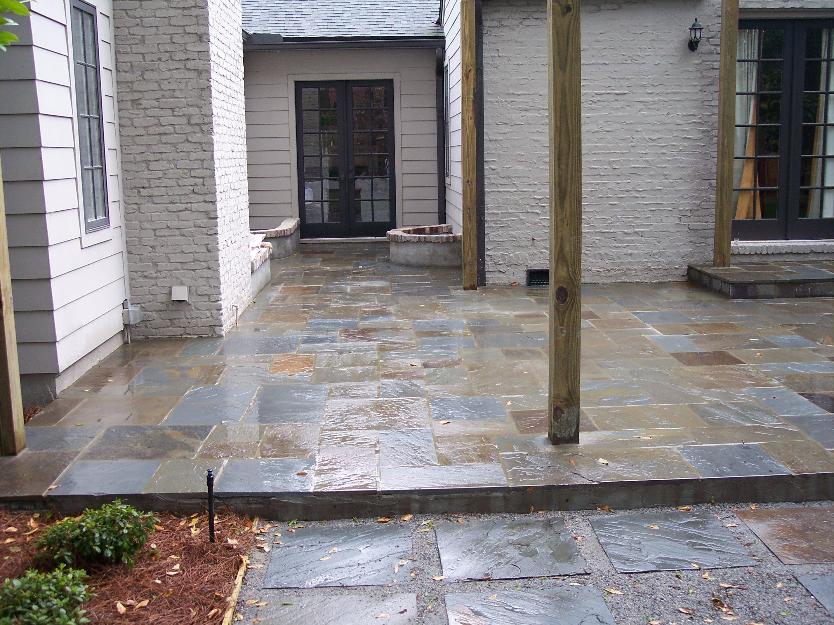 Stone veneer fireplaces home exteriors spas jacksonville stone patio amipublicfo Images