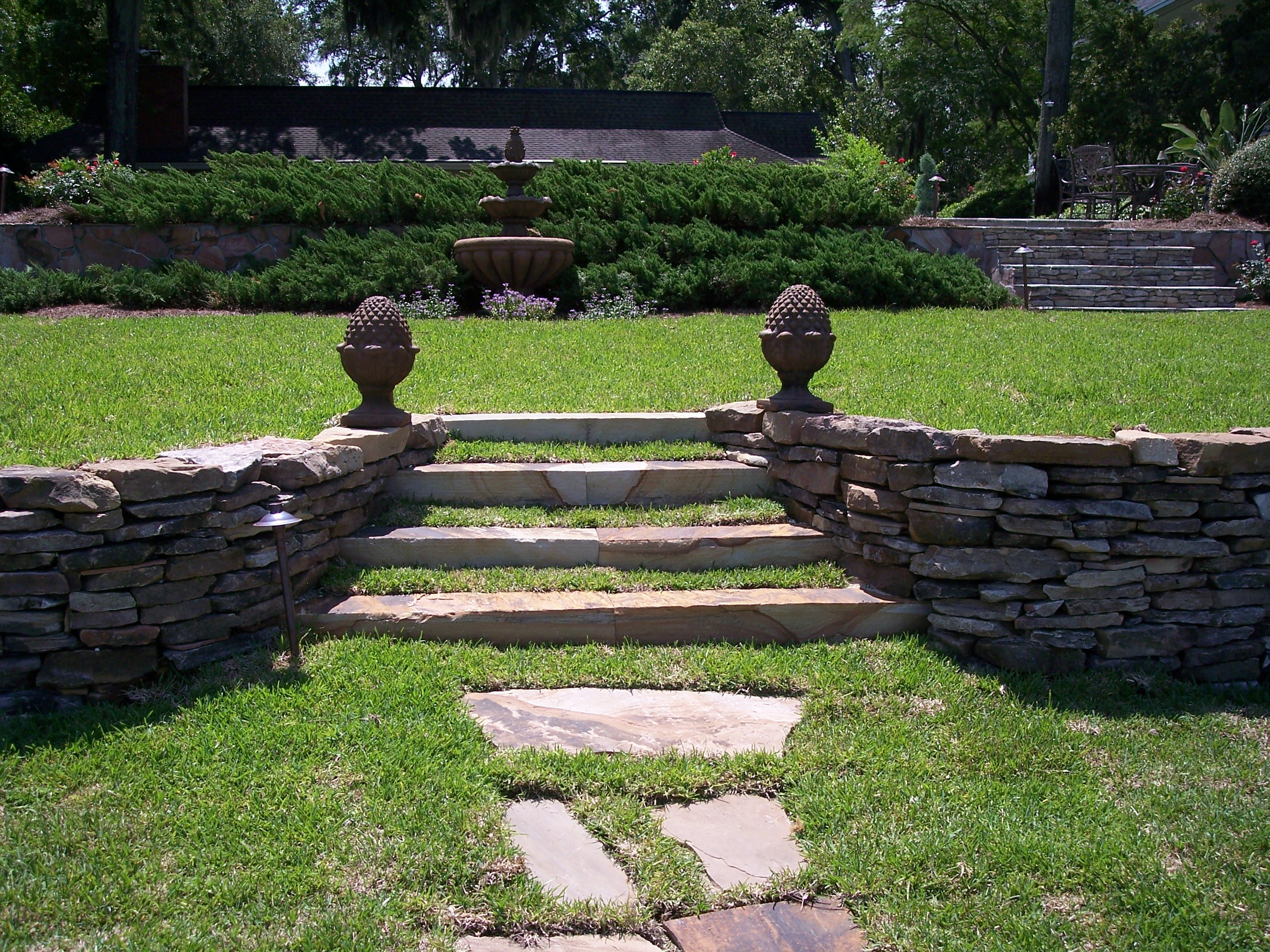 Stone Retaining Wall U0026 Balusters
