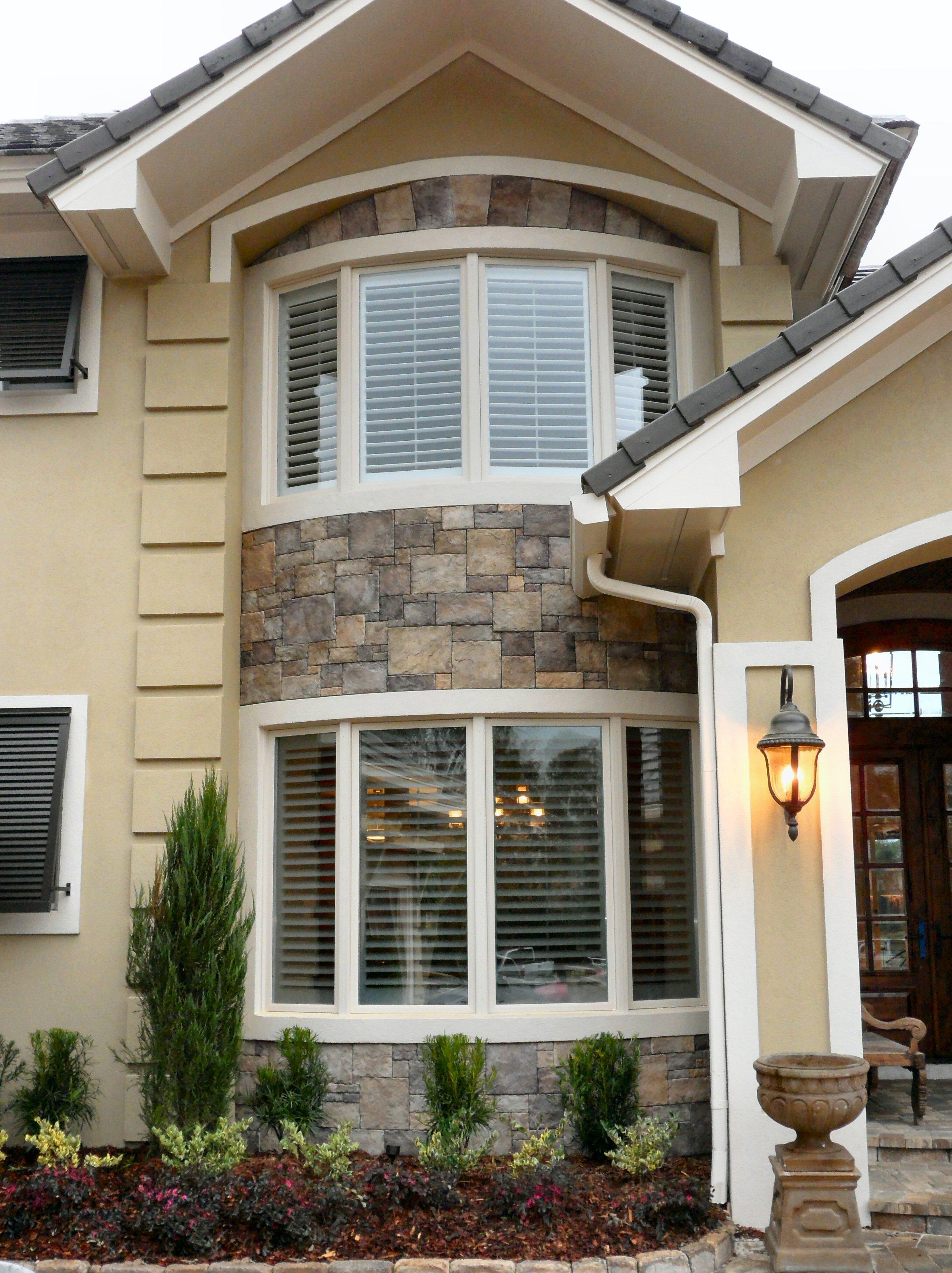 Stone exterior Beautiful Home Design