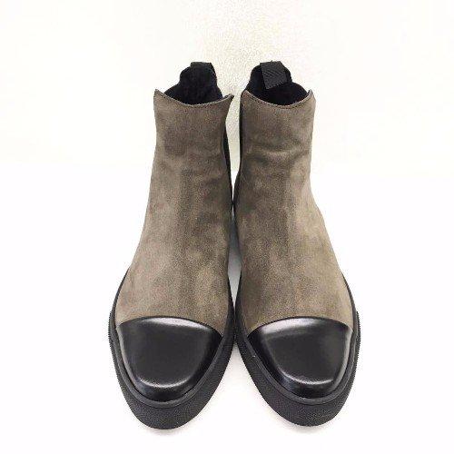 scarponcini marroni in camoscio e pelle