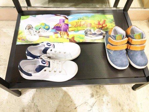 scarpe color jeans da bambino