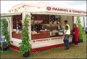 Panini and Ciabata catering trailer