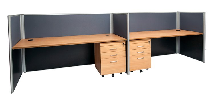 2 person beech workstation