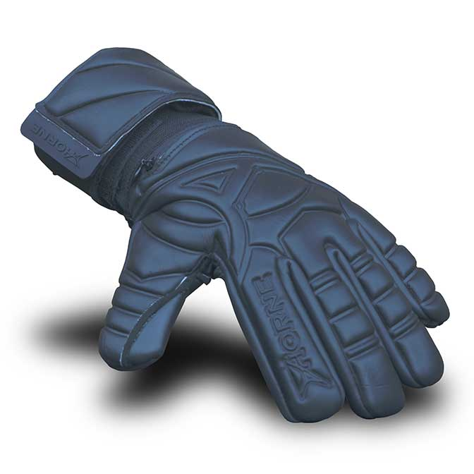 black goalkeeper gloves