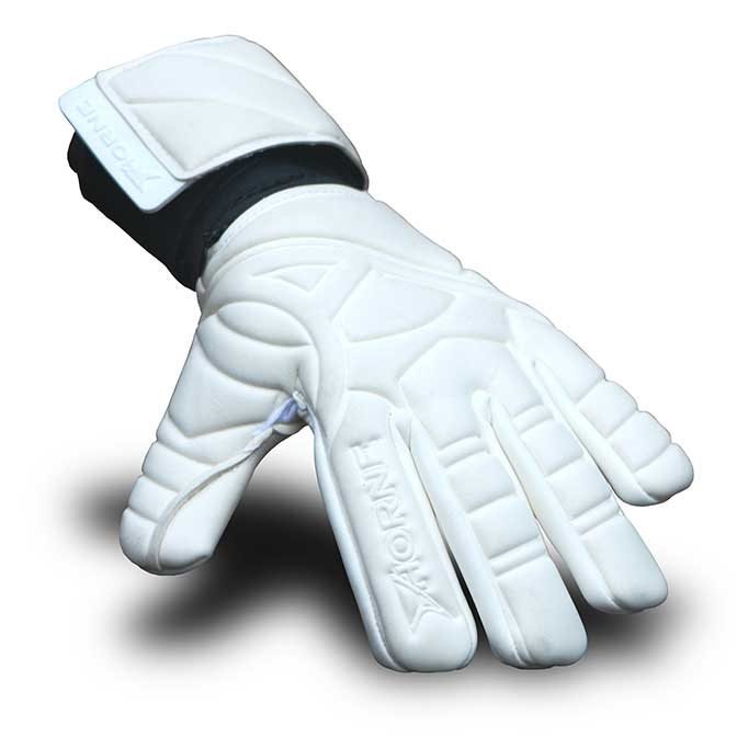 white goalkeeper gloves