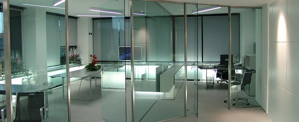Vetrate per uffici, pareti divisorie in vetro