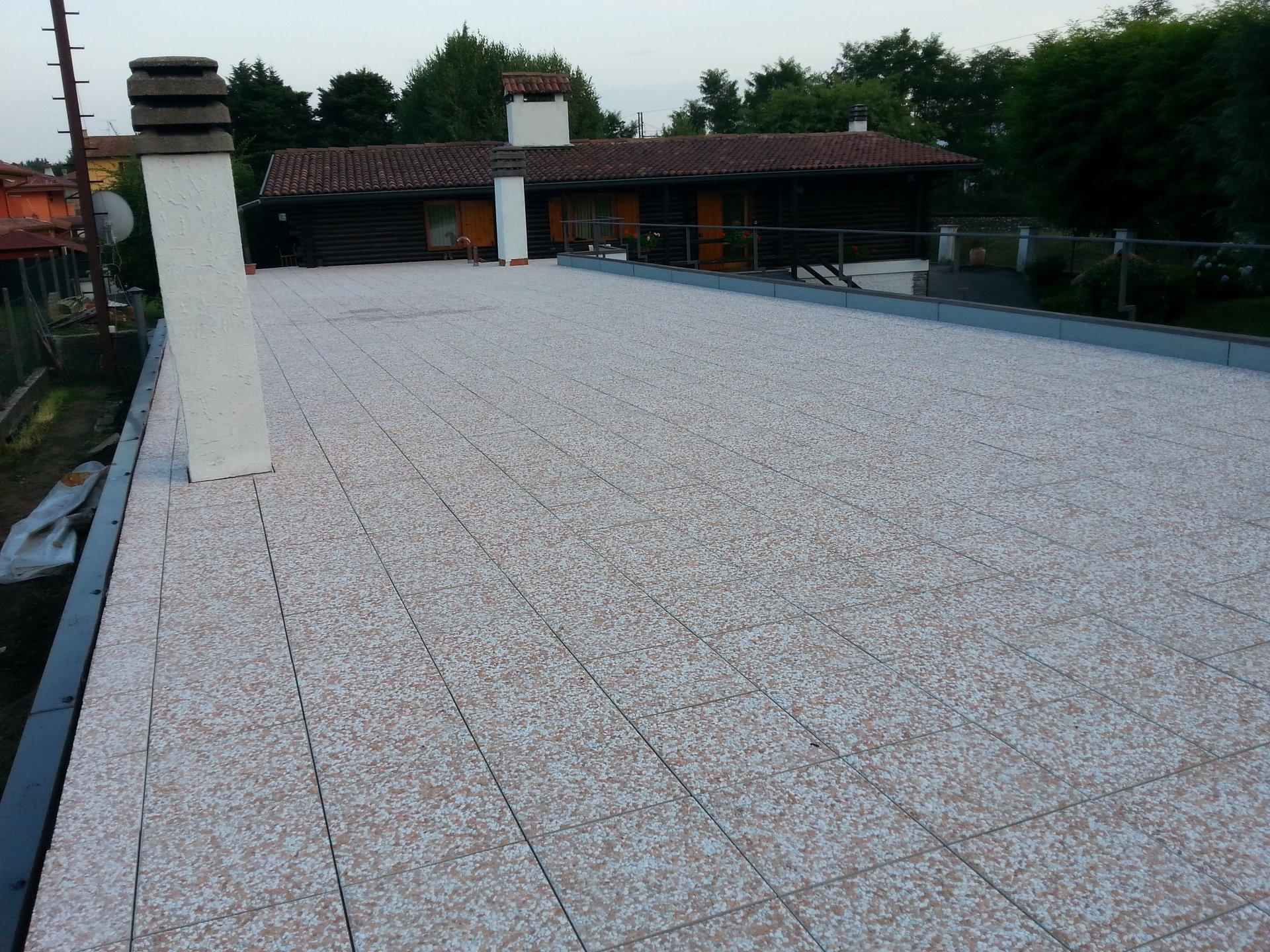 pavimentazione del tetto impermeabilizzata