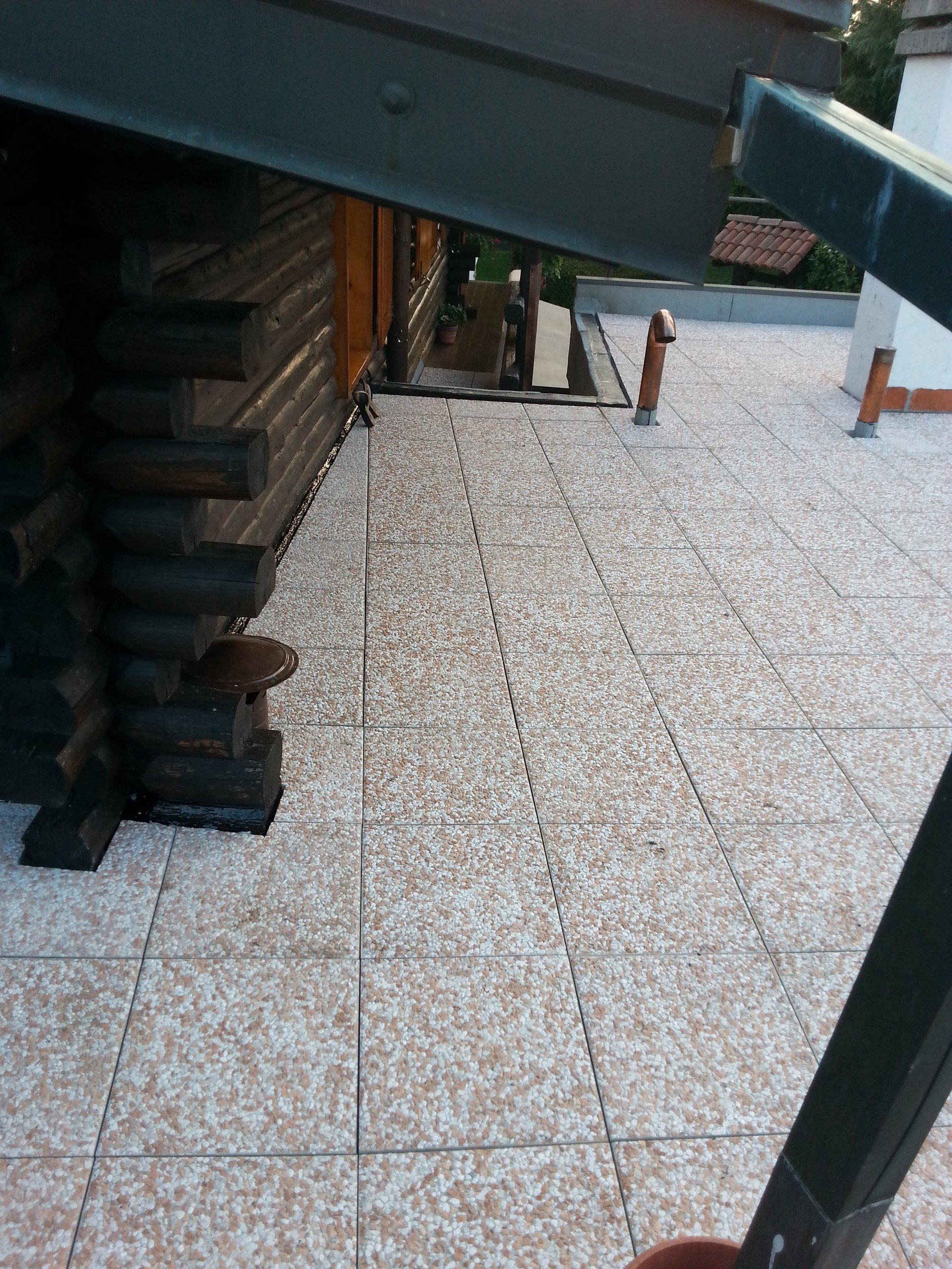 superficie impermeabilizzata di un tetto