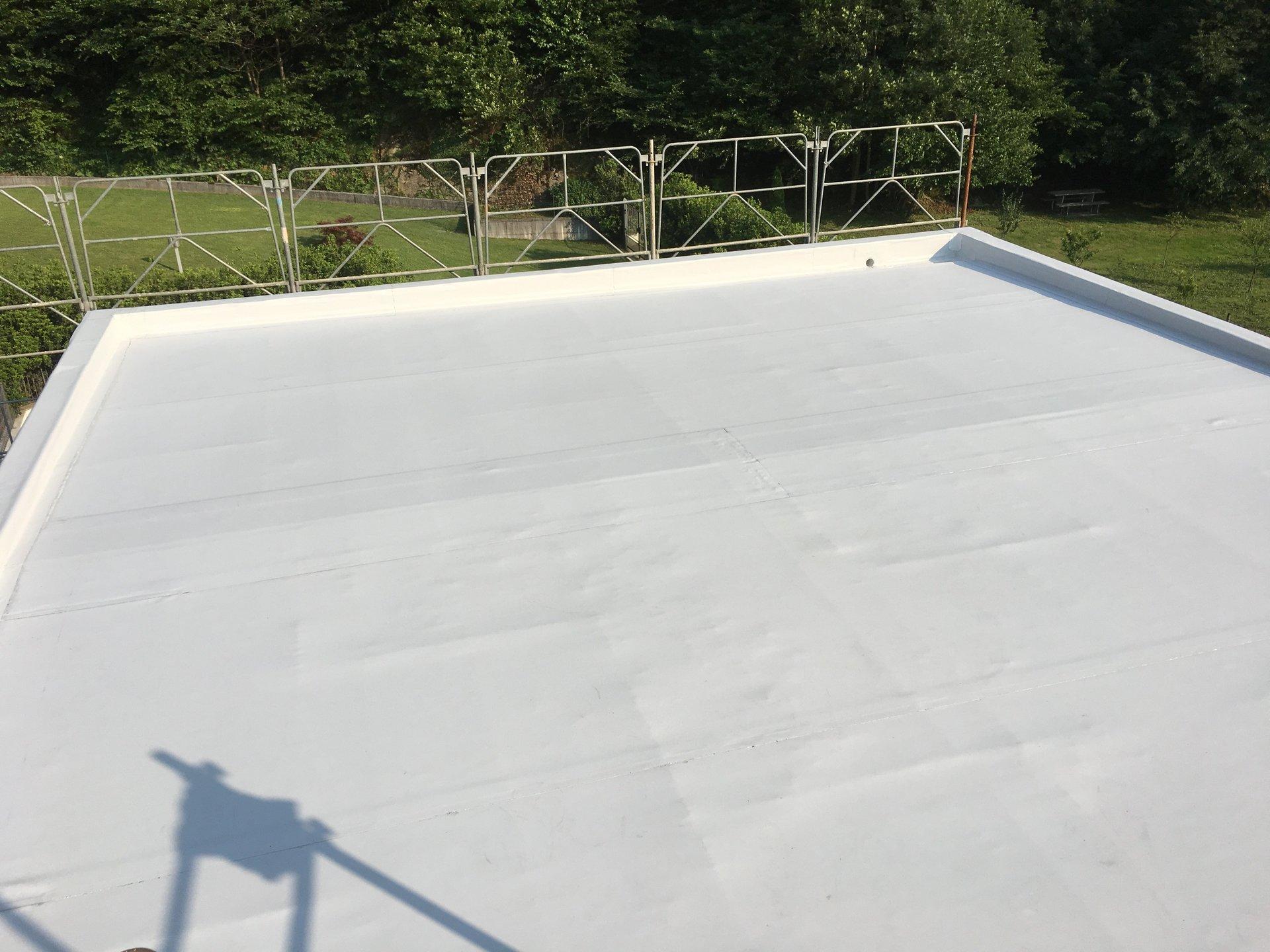 tetto impermeabilizzato con membrana sintetica