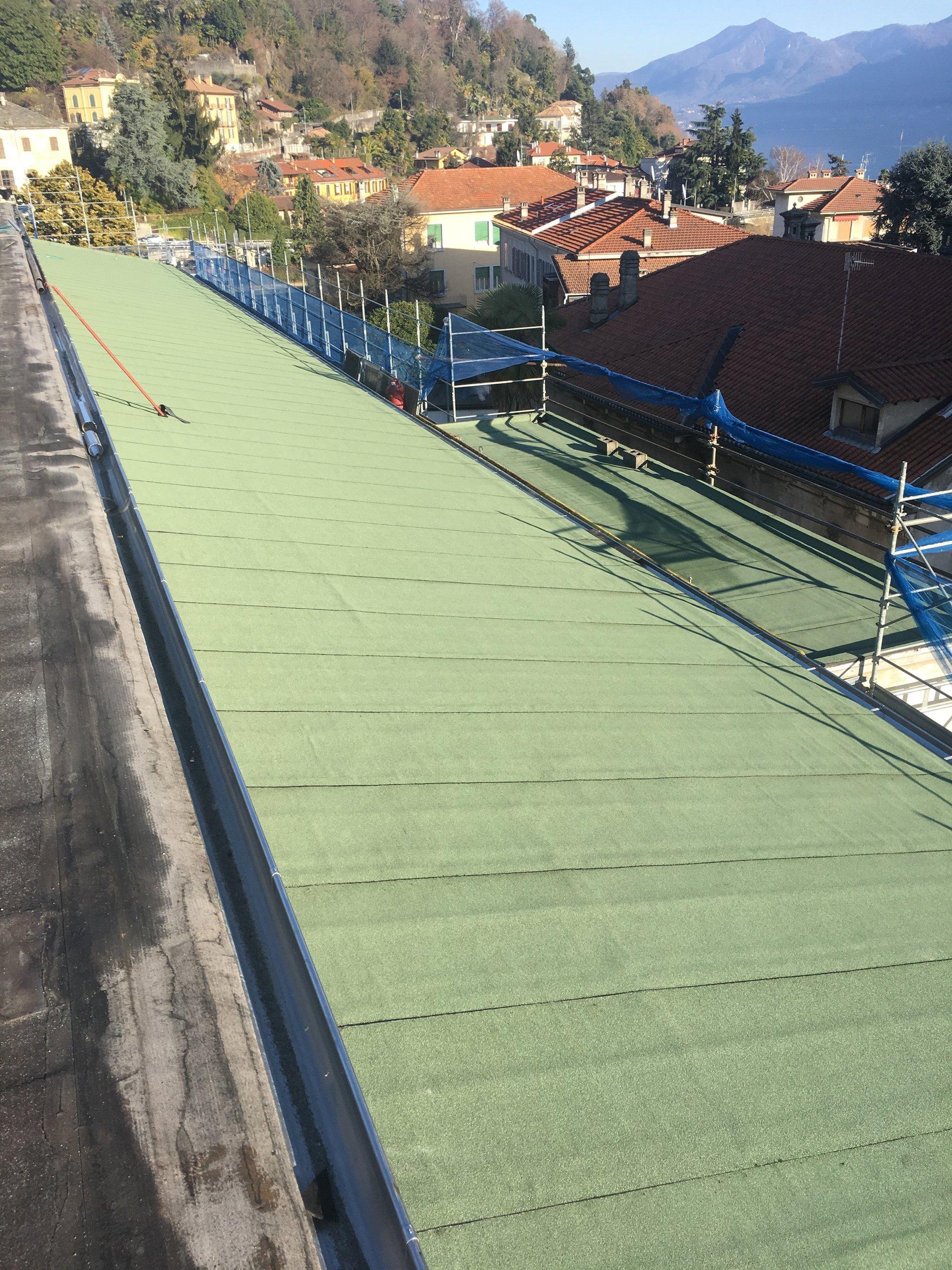 lavori di impermeabilizzazione di un tetto