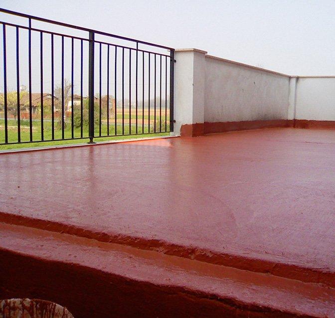 impermeabilizzazione di terrazzo con resina