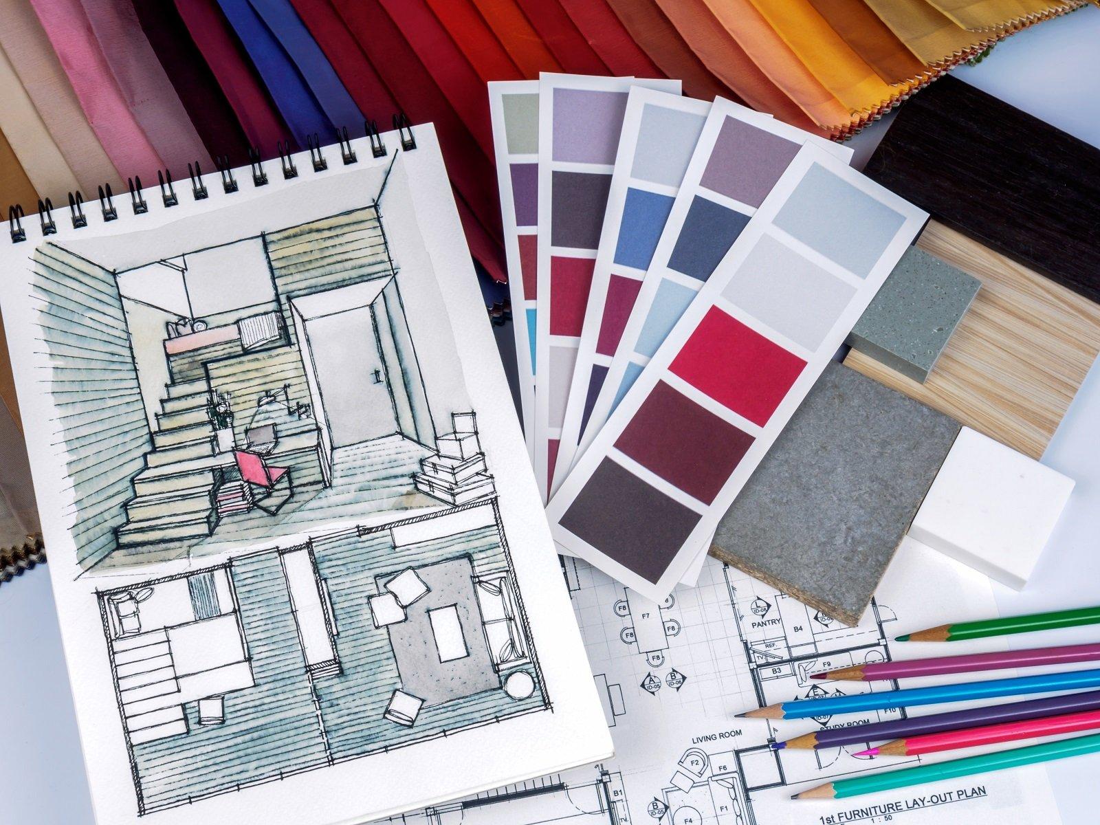 progetti di una stanza e colori tintometro