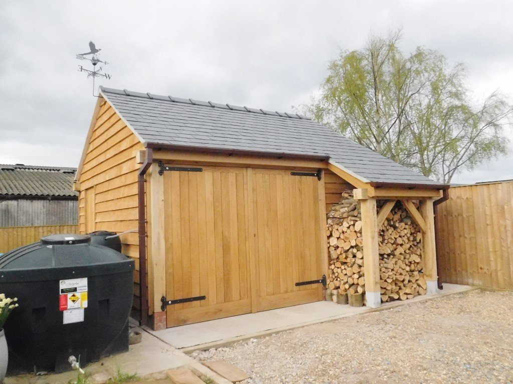 oak and home garage