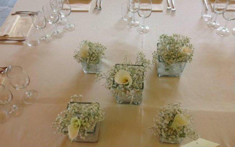 Allestimento tavolo da cerimonia