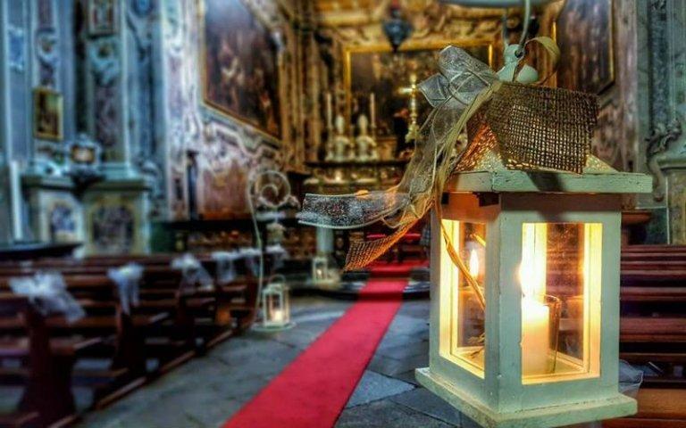 Fiori e candele per matrimoni