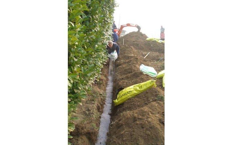 Opere di drenaggio terra