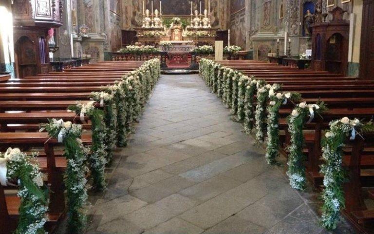 Allestimento fiori per matrimoni