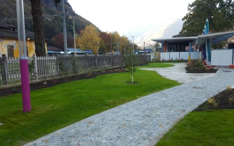 Pavimentazione giardini pubblici