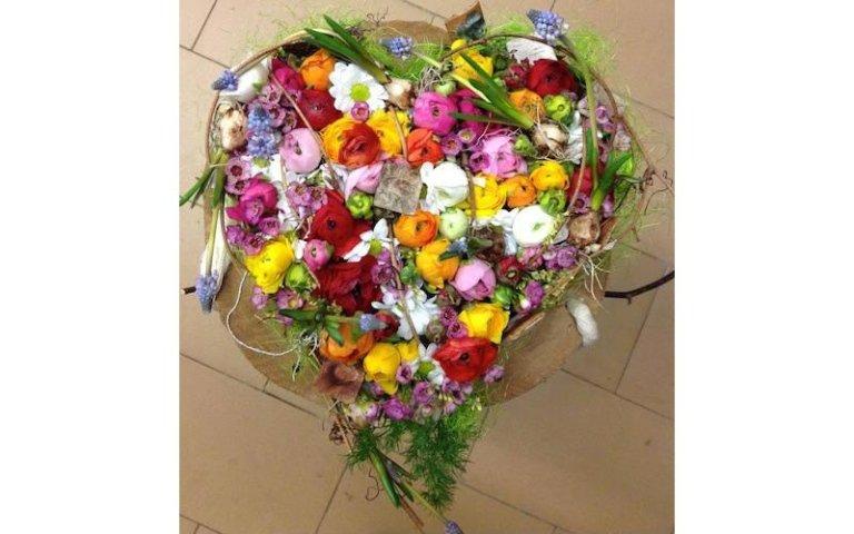 Composizioni floreali a cuore