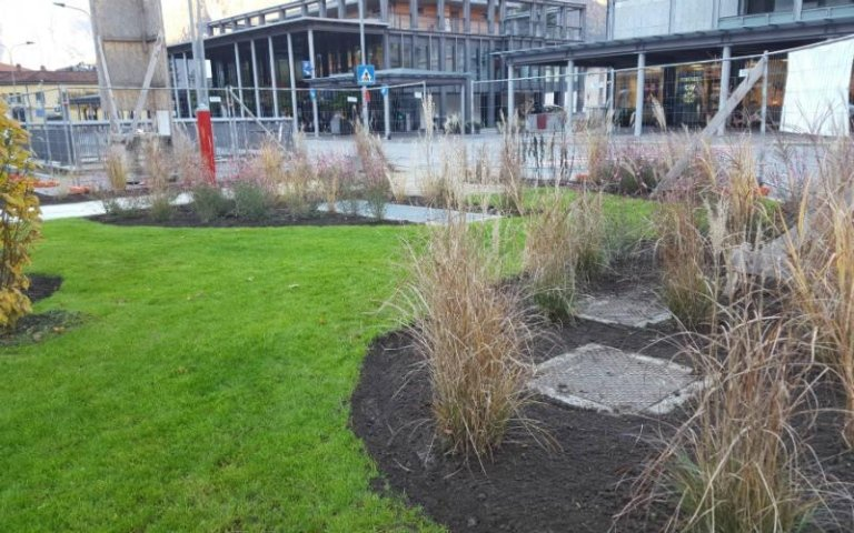 Realizzazioni giardini pubblici Sondrio