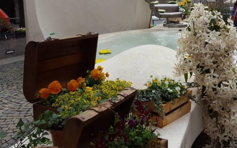Allestimenti floreali con cestini