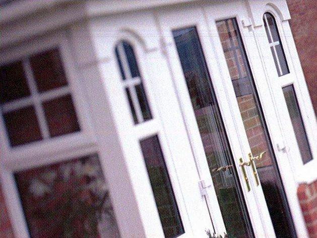 Close up defocussed conservatory doors