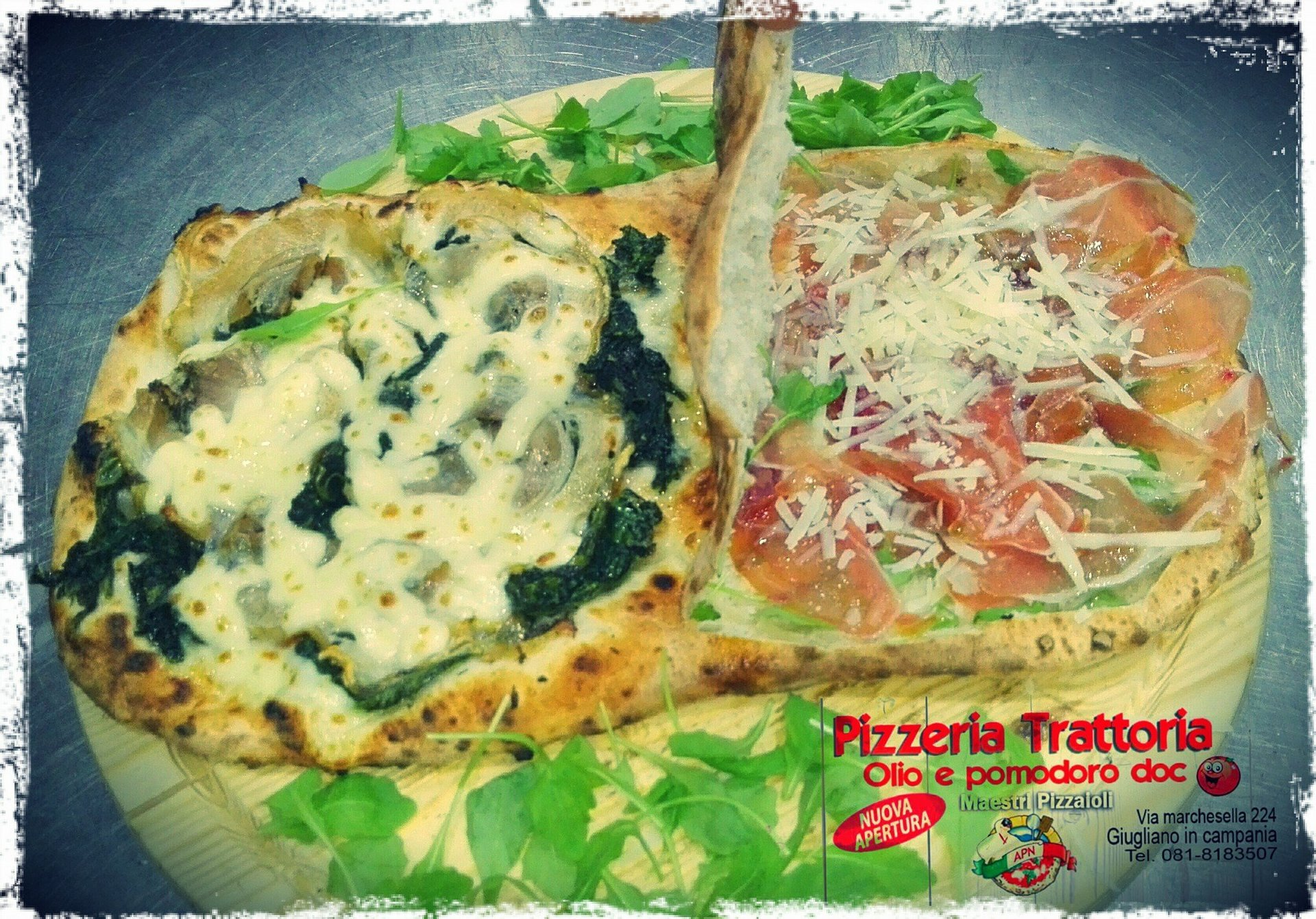metà pizza metà saltimbocca
