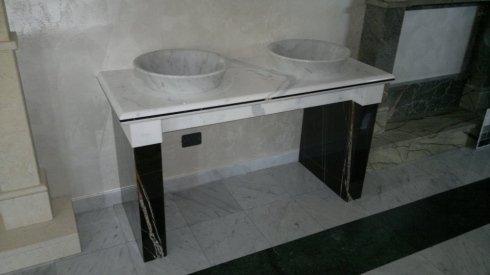 lavabi circolari in marmo