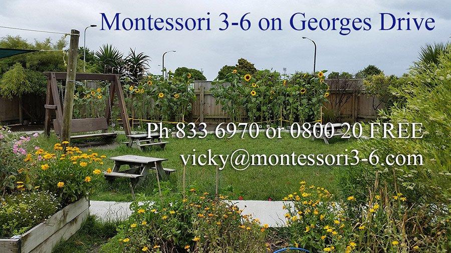 Montessori 3-6 school banner