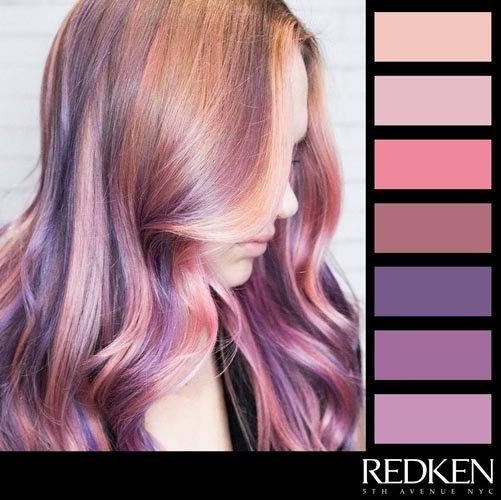 catalogo di capelli con diverse colori REDKEN