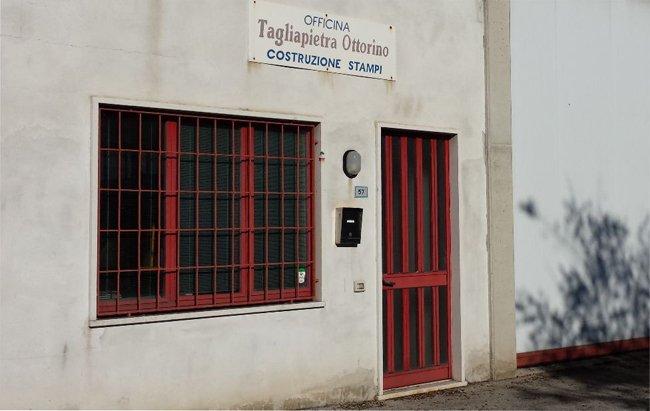 Vista frontale della ditta  Tagliapietra Ottorino a Thiene