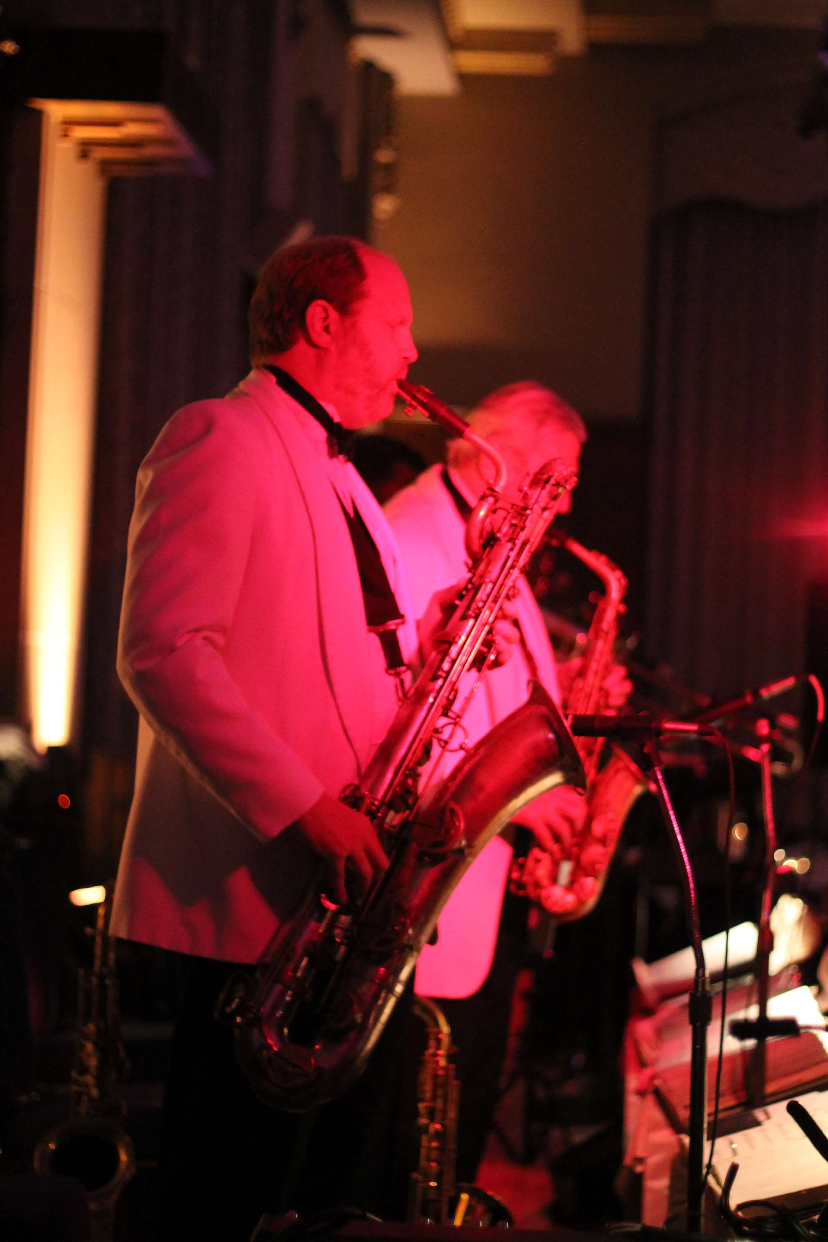 The Sun Messengers Band Playing Saxophone