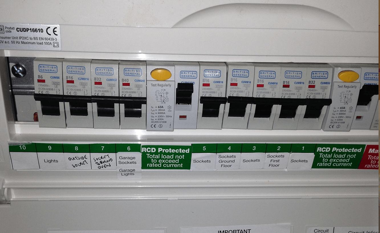 17th Edition Consumer Unit - Fuseboard change