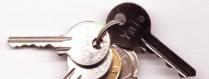Vorhängeschlösser und Schlüssel