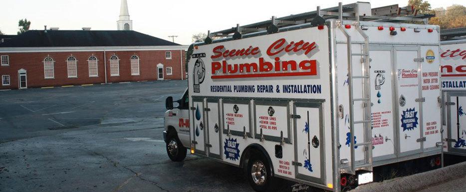 scenic city plumbing truck