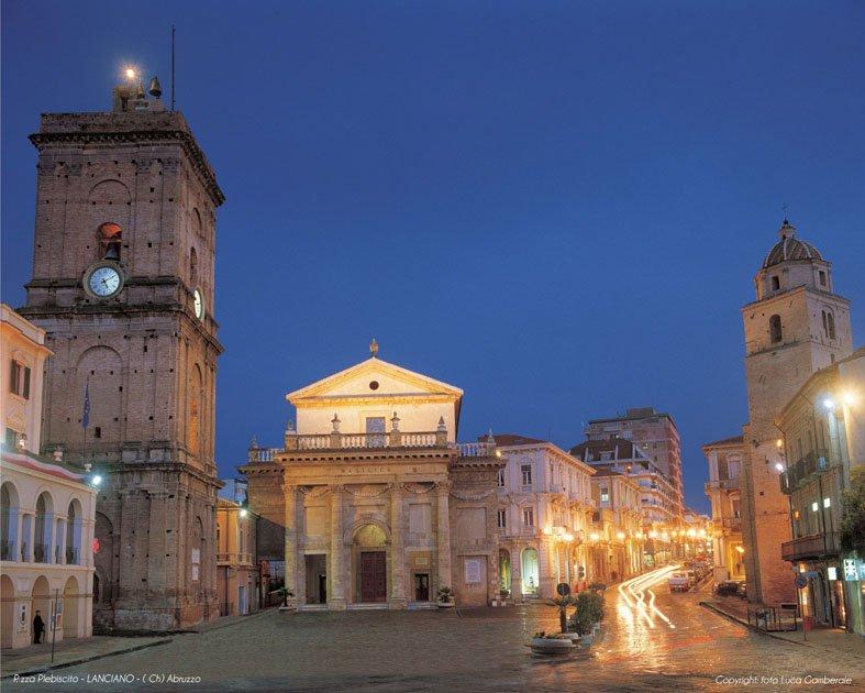 Vista della piazza centrale di Lanciano