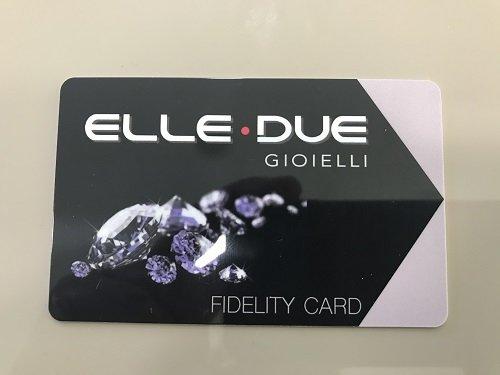 una fidelity card Elle Due gioielli