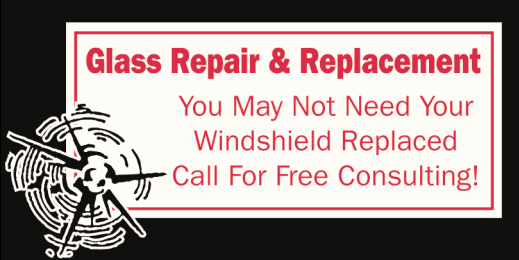 Glass repair & replacement call to action