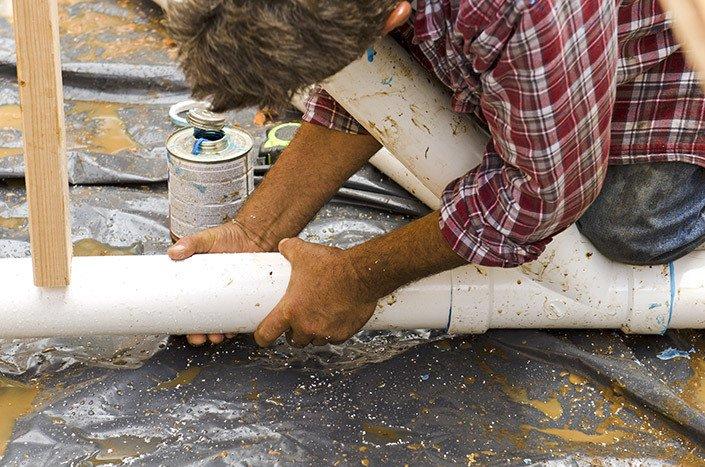 Safely fitting drain in Waitara