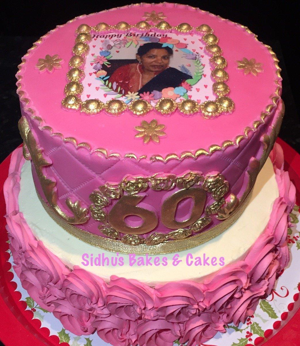face printed cake