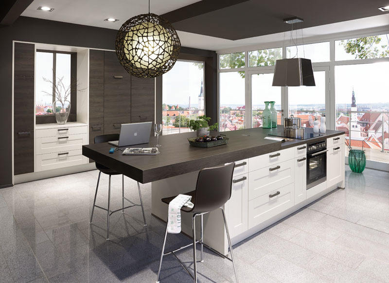 Kitchen Isle With Extension