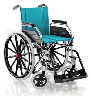 carrozzina pieghevole standard con ruote grandi