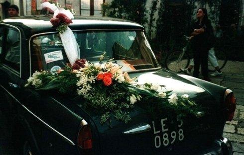fiori per auto matrimonio